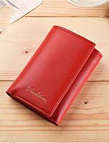 Недорогие -Жен. Мешки PU Бумажники Молнии Пурпурный / Кофейный / Темно-коричневый