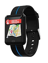 abordables -Bracelet à puce Indear-F5 pour Android iOS Bluetooth Sportif Imperméable Moniteur de Fréquence Cardiaque Mesure de la pression sanguine Ecran Tactile Podomètre Rappel d'Appel Moniteur d'Activit
