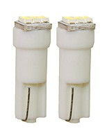 Недорогие -SENCART 2pcs T5 Автомобиль Лампы 1 W SMD 3014 30 lm 3 Светодиодная лампа Внутреннее освещение Назначение