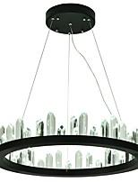 Недорогие -VALLKIN Круглый Люстры и лампы Рассеянное освещение Окрашенные отделки Металл Хрусталь, Регулируется 110-120Вольт / 220-240Вольт Теплый белый / Холодный белый