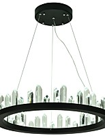 baratos -VALLKIN Circular Lustres Luz Ambiente Acabamentos Pintados Metal Cristal, Ajustável 110-120V / 220-240V Branco Quente / Branco Frio