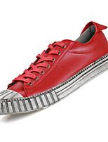 abordables -Homme Chaussures de confort Polyuréthane Automne Décontracté Basket Respirable Noir / Rouge / Bleu