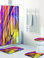baratos -1conjunto Modern Tapetes Anti-Derrapantes Poliéster Elástico Tricotado 100g / m2 Inovador Retângular Banheiro Criativo