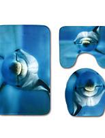 Недорогие -3 предмета Modern Коврики для ванны 100 г / м2 полиэфирный стреч-трикотаж Животное Прямоугольная Ванная комната Очаровательный