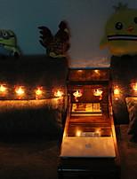 abordables -1.5m Guirlandes Lumineuses 20 LED Blanc Chaud Décorative Piles AA alimentées 1 set