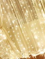 Недорогие -3M Гирлянды 304 светодиоды Тёплый белый Декоративная 220-240 V 1 комплект