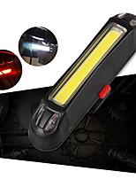 Недорогие -Задняя подсветка на велосипед Светодиодная лампа Велосипедные фары Велоспорт Водонепроницаемый, Портативные, Регулируется Литий-ионная аккумуляторная батарея 100 lm Белый / Красный