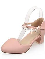 Недорогие -Жен. Комфортная обувь Полиуретан Весна Обувь на каблуках На толстом каблуке Белый / Синий / Розовый