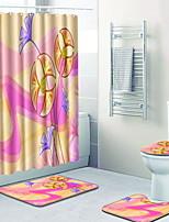 Недорогие -1 комплект Modern Коврики для ванны 100 г / м2 полиэфирный стреч-трикотаж Креатив Прямоугольная Ванная комната Очаровательный