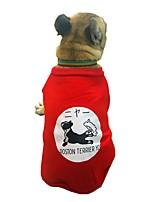 baratos -Cachorros Moletom Roupas para Cães Personagem / Formais / Slogan Preto / Vermelho Algodão Ocasiões Especiais Para animais de estimação Unisexo Estilo Romântico / Casual