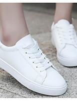Недорогие -Жен. Комфортная обувь Полиуретан Весна Кеды На плоской подошве Розовый и белый / Белый / синий