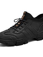 Недорогие -Муж. Кожаные ботинки Кожа Весна & осень Спортивные / На каждый день Кеды Массаж Черный / Серый