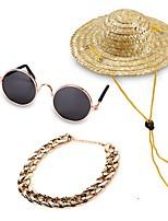 billiga -Hund / Katt Outfits / Halsband / Ornament Fluga / Trumpet / Tecknad design Enfärgad Plastik / Nylon / Metall