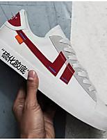 Недорогие -Муж. Комфортная обувь Полотно Весна Кеды Черно-белый / Розовый и белый