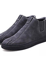Недорогие -Муж. Комфортная обувь Полиуретан Осень На каждый день Кеды Дышащий Черный / Темно-серый