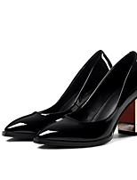 abordables -Femme Escarpins Cuir Verni Printemps Chaussures à Talons Talon Bottier Noir / Gris / Rouge