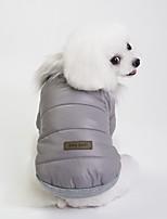 baratos -Cachorros Casacos Roupas para Cães Formais Cinzento / Vermelho / Azul Terylene Ocasiões Especiais Para animais de estimação Unisexo Casual / Aquecimento