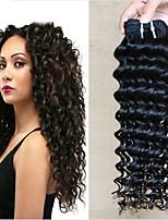 Недорогие -6 Связок Индийские волосы Вьетнамские волосы Крупные кудри Натуральные волосы Необработанные натуральные волосы Подарки Косплей Костюмы Человека ткет Волосы 8-28 дюймовый Естественный цвет