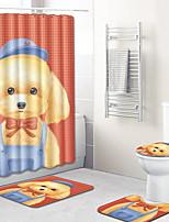 Недорогие -3 предмета Мультяшная тематика Коврики для ванны 100 г / м2 полиэфирный стреч-трикотаж Животное Прямоугольная Ванная комната обожаемый