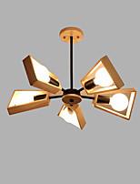 billiga -5-Light Sputnik Ljuskronor Glödande Målad Finishes Trä Metall Trä / Bambu Kreativ 110-120V / 220-240V