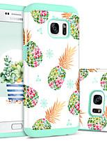 Недорогие -BENTOBEN Кейс для Назначение SSamsung Galaxy S7 Защита от удара / С узором Кейс на заднюю панель Фрукты Твердый ПК / силикагель для S7