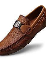 Недорогие -Муж. Кожаные ботинки Наппа Leather Весна На каждый день / Английский Мокасины и Свитер Массаж Черный / Коричневый
