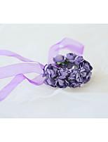 Недорогие -Свадебные цветы Букетик на запястье Свадьба / Свадебные прием Тиснённая бумага / Шелк 0-10 cm