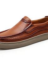 billiga -Herr Läderskor Läder Höst Ledigt / Brittisk Loafers & Slip-Ons Massage Svart / Brun
