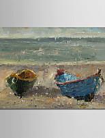 abordables -Peinture à l'huile Hang-peint Peint à la main - Paysage Moderne Sans cadre intérieur / Toile roulée