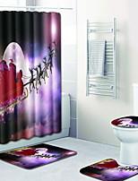 billiga -1set Moderna Duschmattor 100g / m2 Polyester Stretch Kreativ Rektangulär Badrum Förtjockning