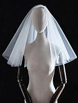 Недорогие -Четыре слоя Классика / Любовь Свадебные вуали Фата до плеч с Однотонные Тюль