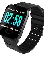 abordables -Bracelet à puce A6 pour Android iOS Bluetooth Imperméable Moniteur de Fréquence Cardiaque Mesure de la pression sanguine Calories brulées Enregistrement de l'activité Podomètre Rappel d'Appel