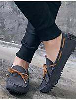 Недорогие -Муж. Комфортная обувь Замша Весна & осень Мокасины и Свитер Черный / Серый / Коричневый