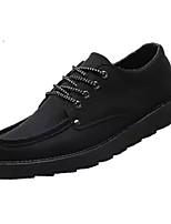 Недорогие -Муж. Комфортная обувь Полиуретан Осень На каждый день Кеды Доказательство износа Черный / Коричневый / Красный