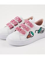 Недорогие -Девочки Обувь Полиуретан Весна & осень Удобная обувь Кеды для Серебряный / Розовый