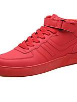 Недорогие -Муж. Комфортная обувь Кожа Зима На каждый день Кеды Высота возрастающей Черный / Коричневый / Красный