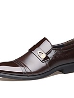 abordables -Homme Chaussures Formal Matière synthétique Automne Décontracté Mocassins et Chaussons+D6148 Ne glisse pas Noir / Marron / Soirée & Evénement