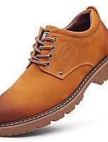 Недорогие -Муж. Кожаные ботинки Кожа Зима Спортивные Туфли на шнуровке Нескользкий Серый / Коричневый / Хаки