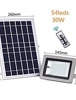 Недорогие -1шт 30 W Солнечный свет стены Водонепроницаемый / Дистанционно управляемый / Работает от солнечной энергии Белый 3.2 V Уличное освещение / двор / Сад