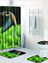Недорогие -1 комплект Modern Коврики для ванны 100 г / м2 полиэфирный стреч-трикотаж Животное Прямоугольная Ванная комната обожаемый