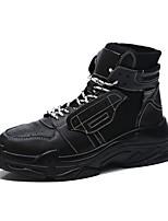 Недорогие -Муж. Комфортная обувь Искусственная кожа Осень На каждый день Кеды Белый / Черный / Черно-белый