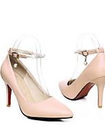 Недорогие -Жен. Балетки Полиуретан Весна Обувь на каблуках На шпильке Белый / Красный / Розовый