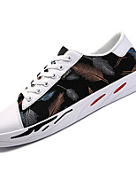 Недорогие -Муж. Комфортная обувь Полиуретан Осень На каждый день Кеды Нескользкий Контрастных цветов Черный / Серый / Синий