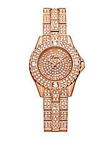 abordables -Femme Montre Bracelet Quartz 30 m Créatif Design nouveau Alliage Bande Analogique Luxe Mode Argent / Doré / Or Rose - Or Argent Or Rose