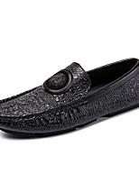 abordables -Homme Chaussures de confort Cuir Automne hiver Classique Mocassins et Chaussons+D6148 Ne glisse pas Noir