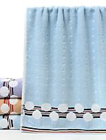 abordables -Qualité supérieure Serviette de bain, Couleur Pleine 100% Coton / 100 % Polyester Salle de  Bain 1 pcs