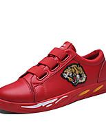 Недорогие -Муж. Комфортная обувь Полиуретан Осень Спортивные / На каждый день Кеды Черный / Красный