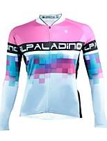 Недорогие -ILPALADINO Жен. Длинный рукав Велокофты - Белый Мода Велоспорт Джерси, Ультрафиолетовая устойчивость 100% полиэстер