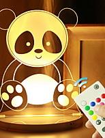 Недорогие -1шт 3D ночной свет Поменять USB Дистанционно управляемый / Cool / С портом USB 10-30 V