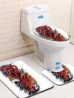 Недорогие -3 предмета Modern Коврики для ванны 100 г / м2 полиэфирный стреч-трикотаж Креатив Прямоугольная Ванная комната сгущение